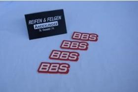 Original BBS-Aufkleber 4 Stk.